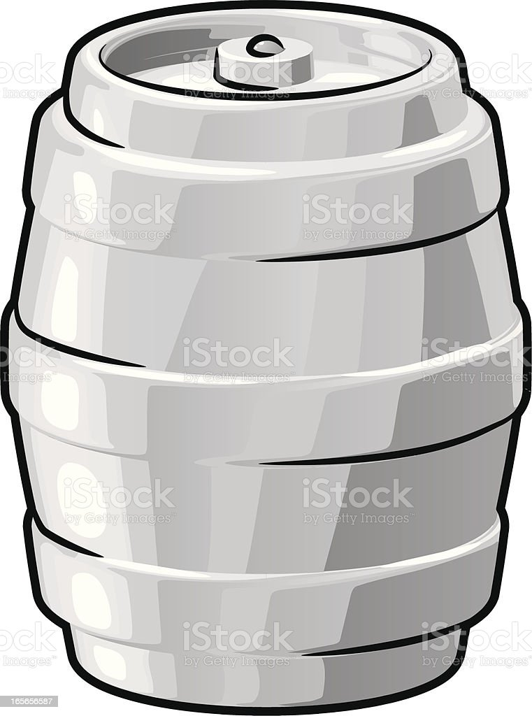 Illustration of a beer keg isolated on a white background vector art illustration