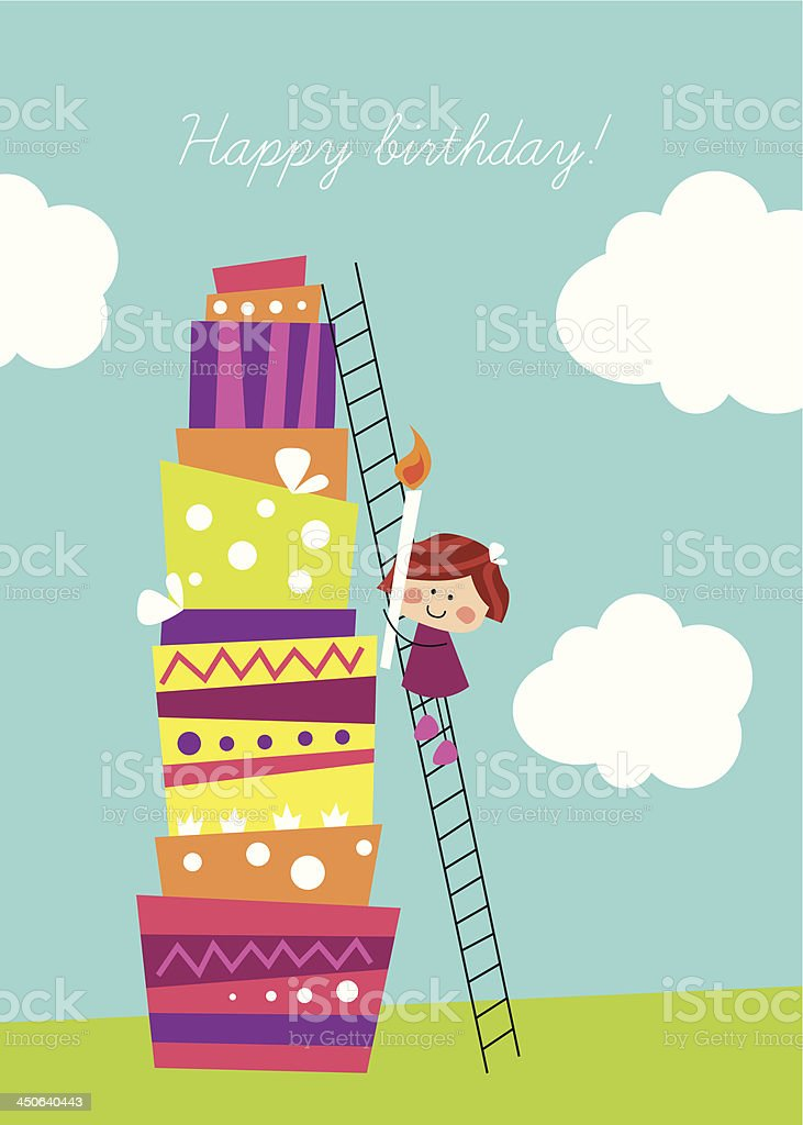 Illustration of a birthday card royalty-free stock vector art