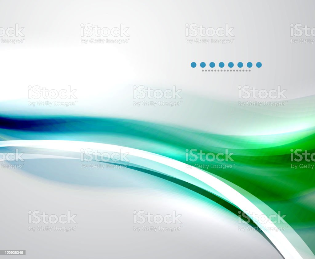 Illustration of a blue and green energy wave royalty-free stock vector art