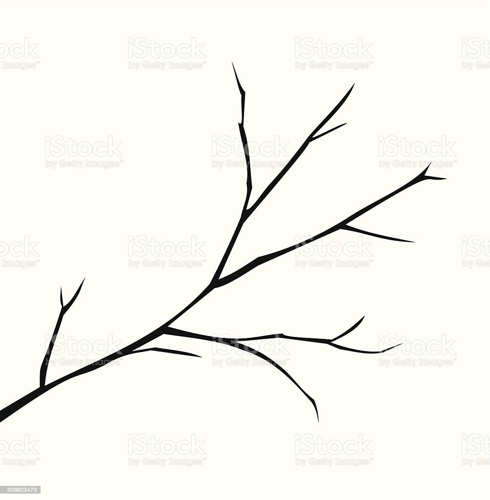 Illustration of a branch vector vector art illustration