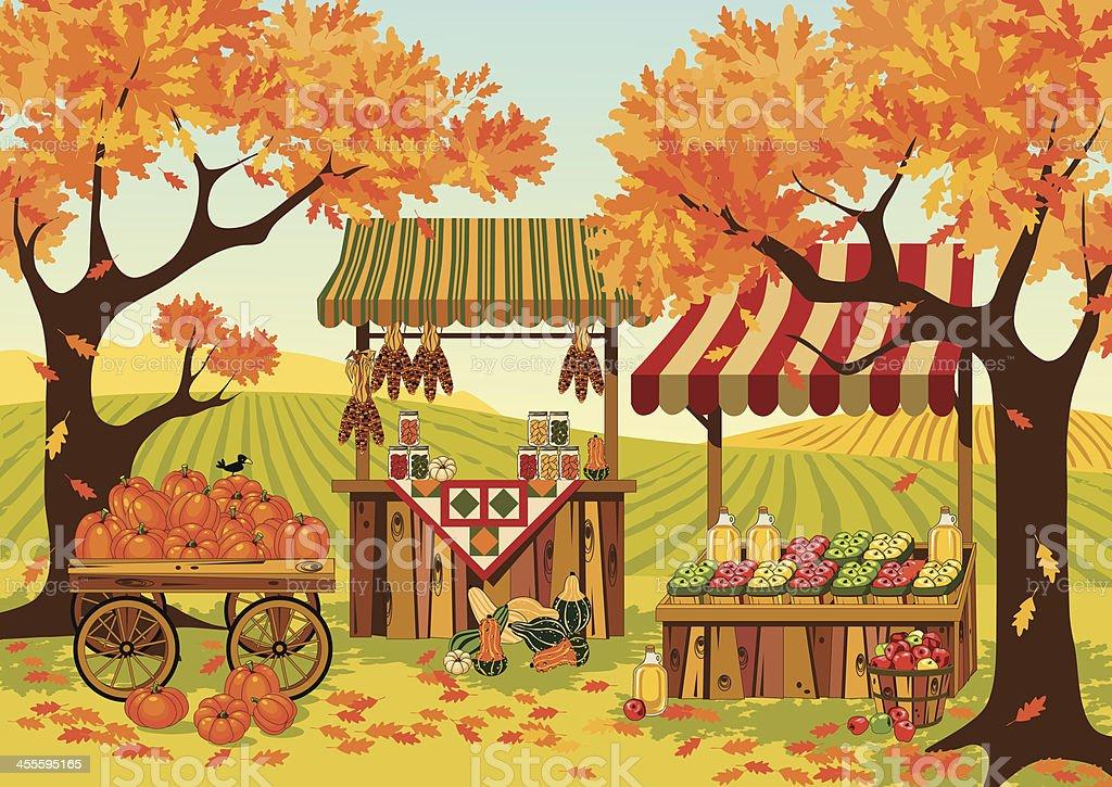 Illustration of a fall harvest  vector art illustration