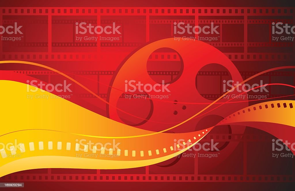 Illustration of a feature movie sign royalty-free stock vector art