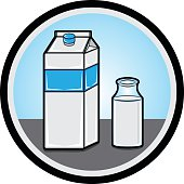 Illustration of a fresh milk