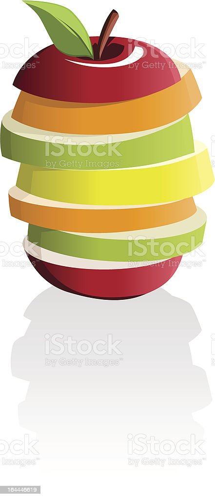 Illustration of a fruit made up of slices of many fruits royalty-free stock vector art