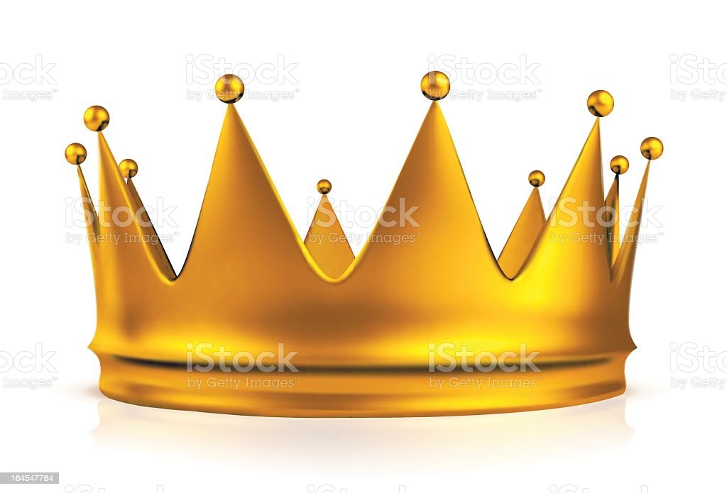 Illustration of a gold crown on a white background vector art illustration