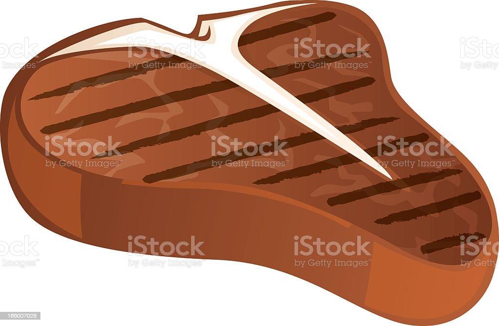 Illustration of a grilled steak icon on white background vector art illustration