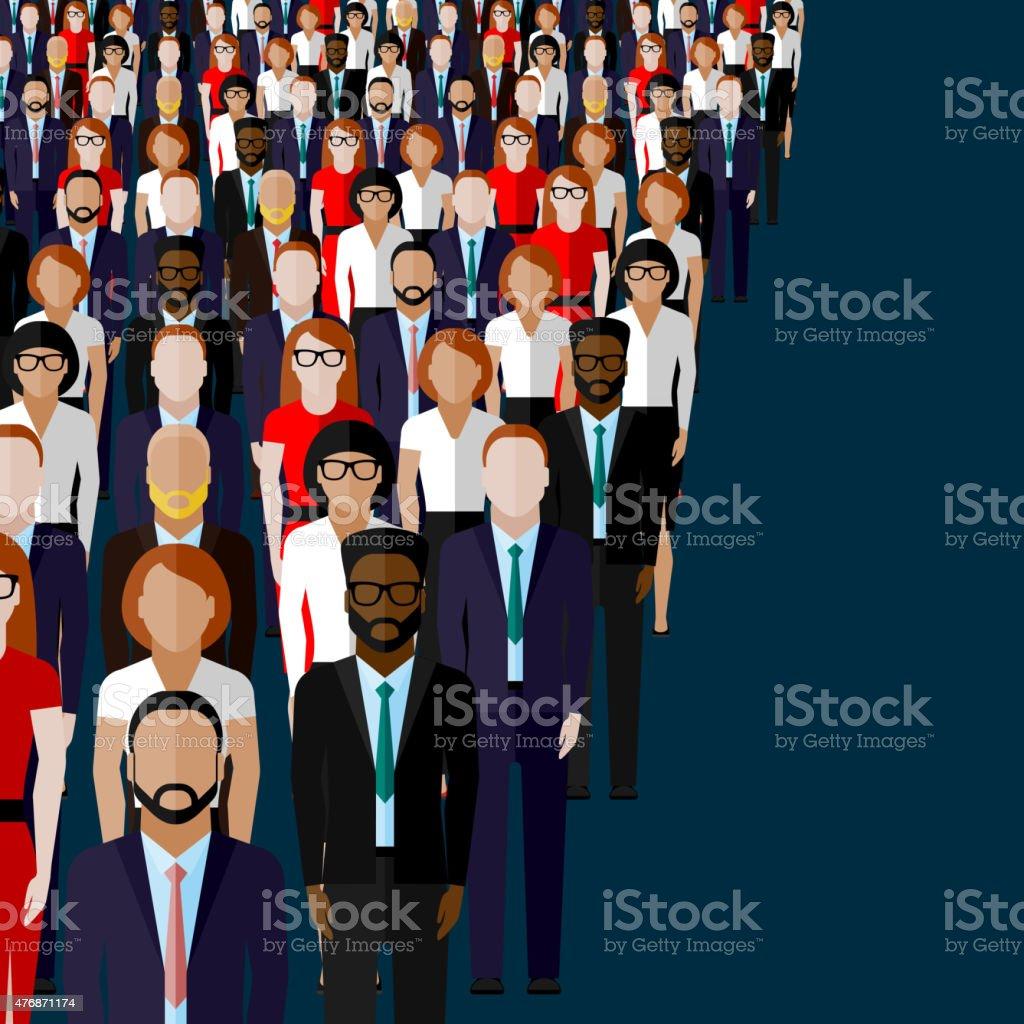 illustration of a leader and a team. vector art illustration