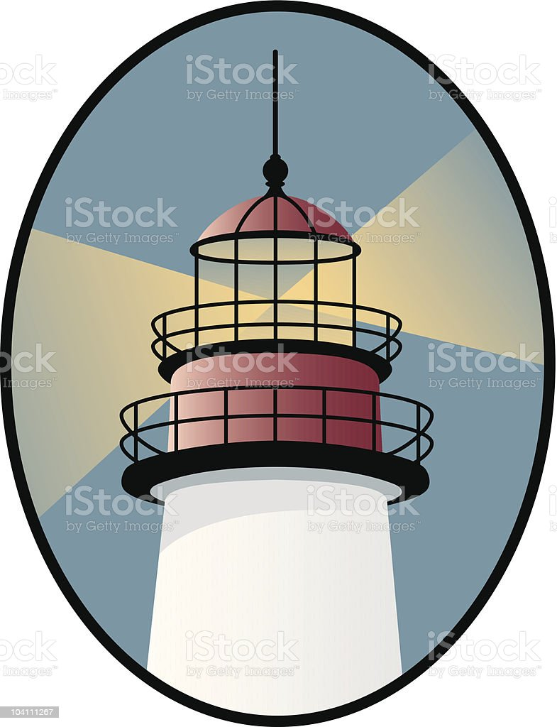 Illustration of a lighthouse icon royalty-free stock vector art