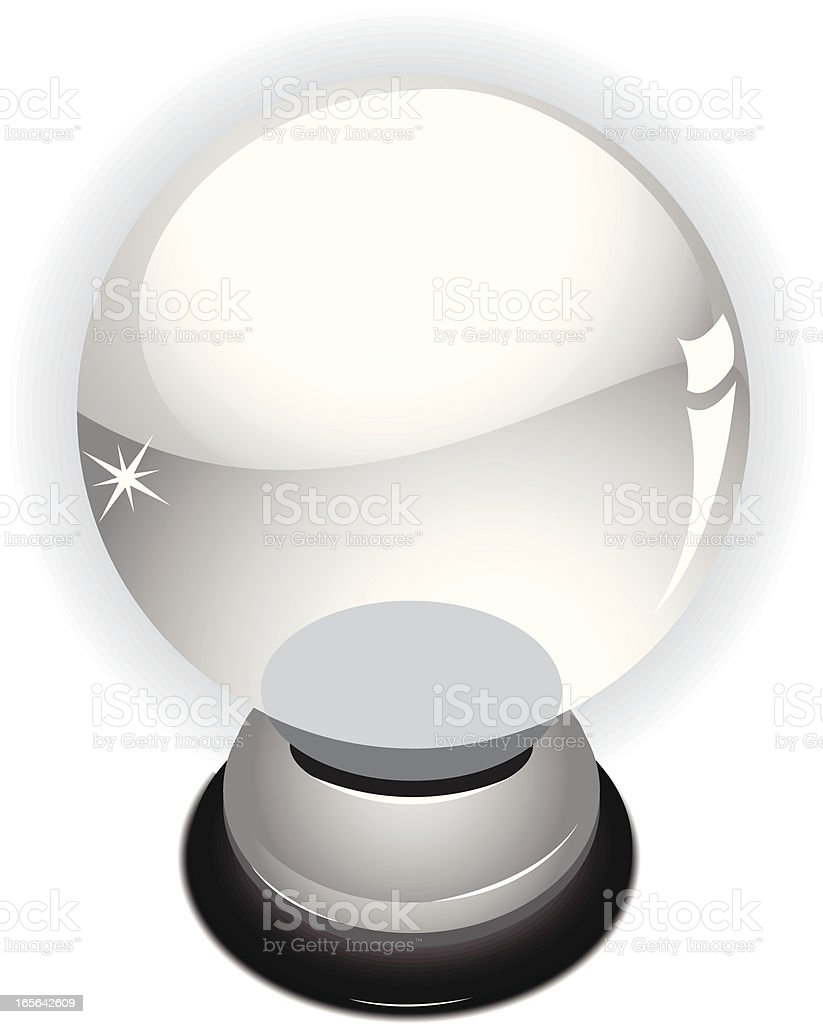 Illustration of a magical divinatory crystal ball vector art illustration
