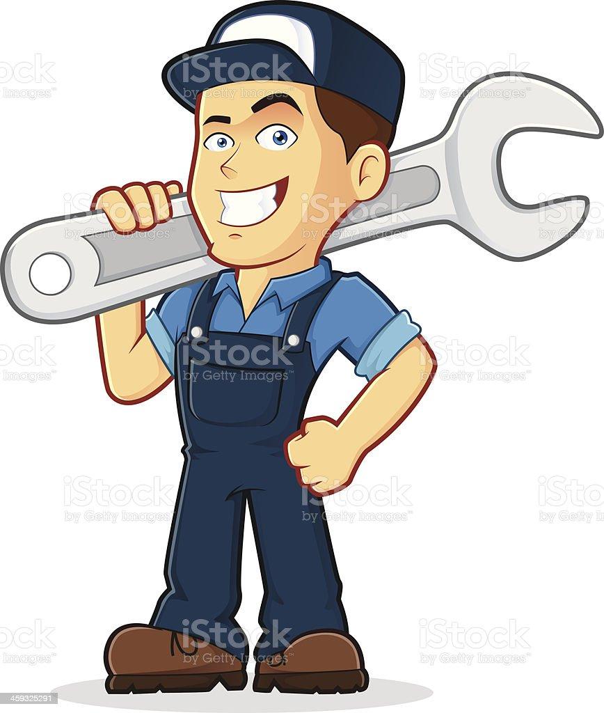 Illustration of a mechanic professional vector art illustration