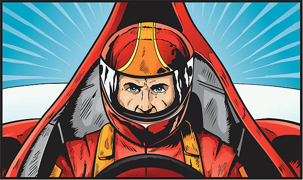 Race Driver Clip Art, Vector Images & Illustrations - iStock