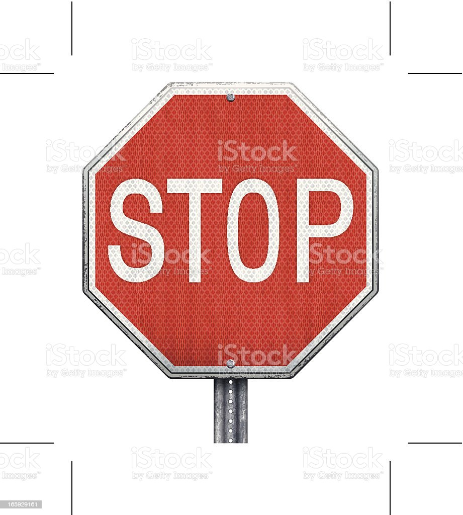 Illustration of a red stop sign royalty-free stock vector art