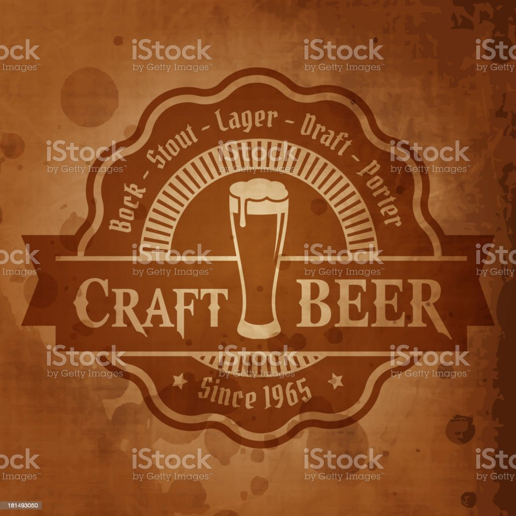 Illustration of a retro styled beer poster royalty-free stock vector art
