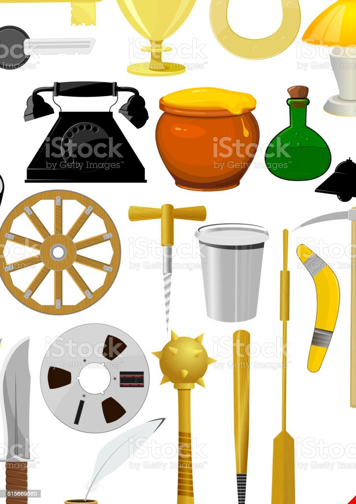 Illustration of a set objects. EPS10 vector art illustration