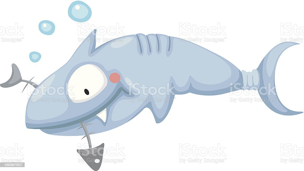 Illustration of a shark royalty-free stock vector art