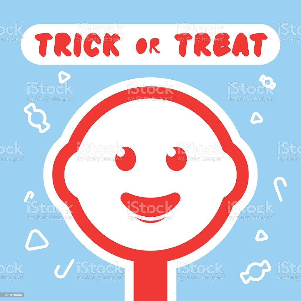 Illustration of a smiling candy on Halloween. vector art illustration