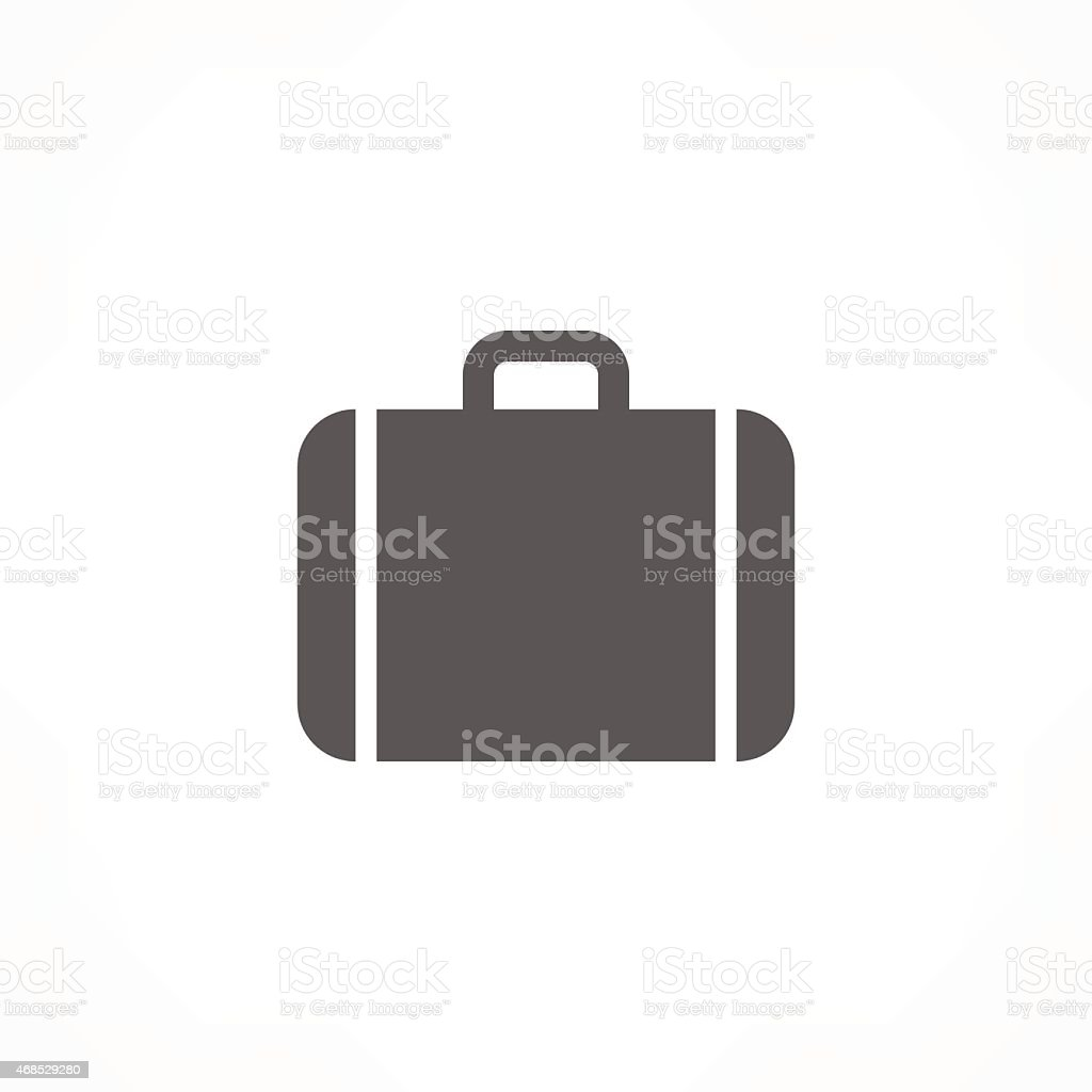 Illustration of a suitcase for airports and road vector art illustration