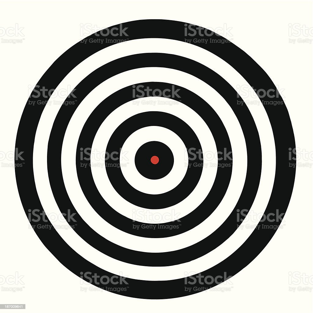 Illustration of a target board with red bullseye vector art illustration