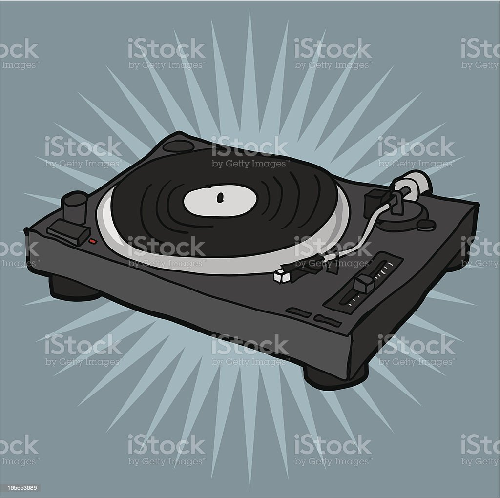 Illustration of a turntable vector art illustration