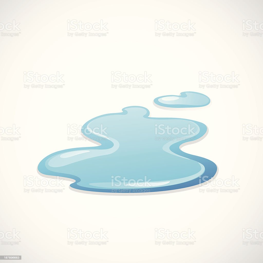 Illustration of a water puddle isolated on white royalty-free stock vector art