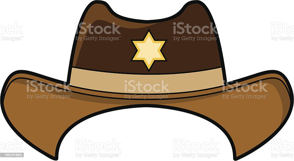 Illustration of a Wild West cowboy hat royalty-free stock vector art