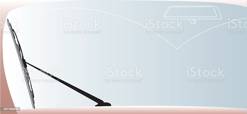 Illustration of a windshield wiper in a vertical position vector art illustration