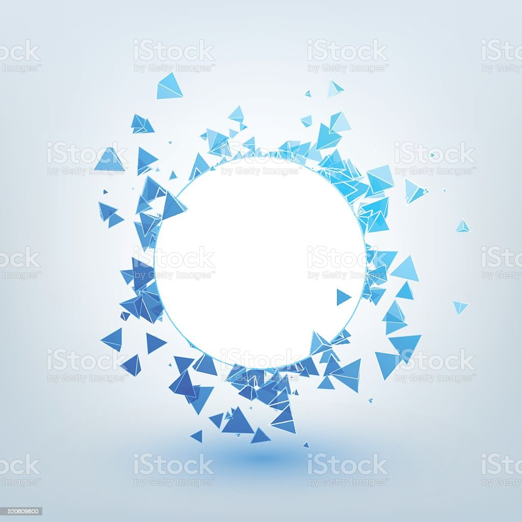Illustration of abstract background with triangles. vector art illustration
