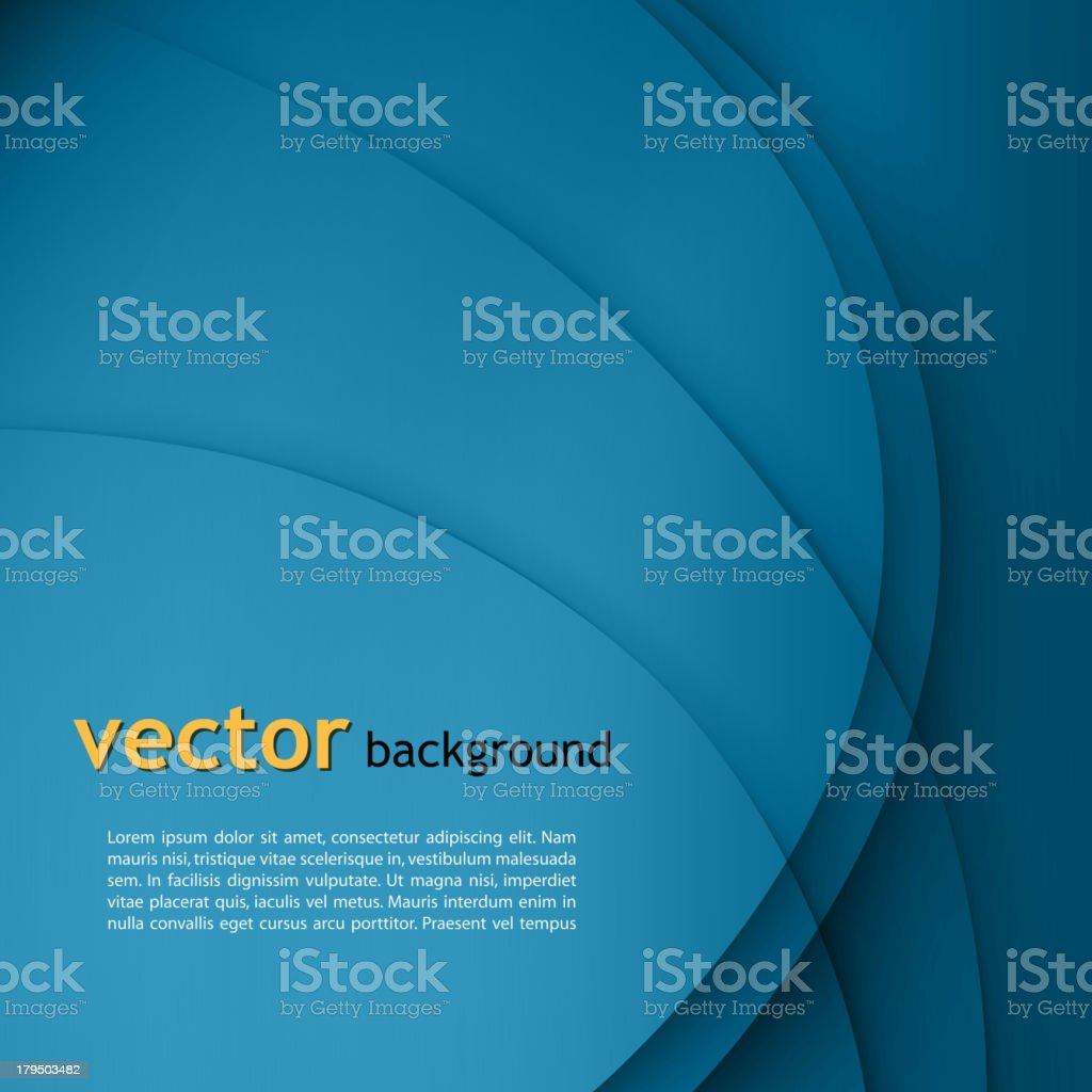 Illustration of abstract color waved background vector art illustration