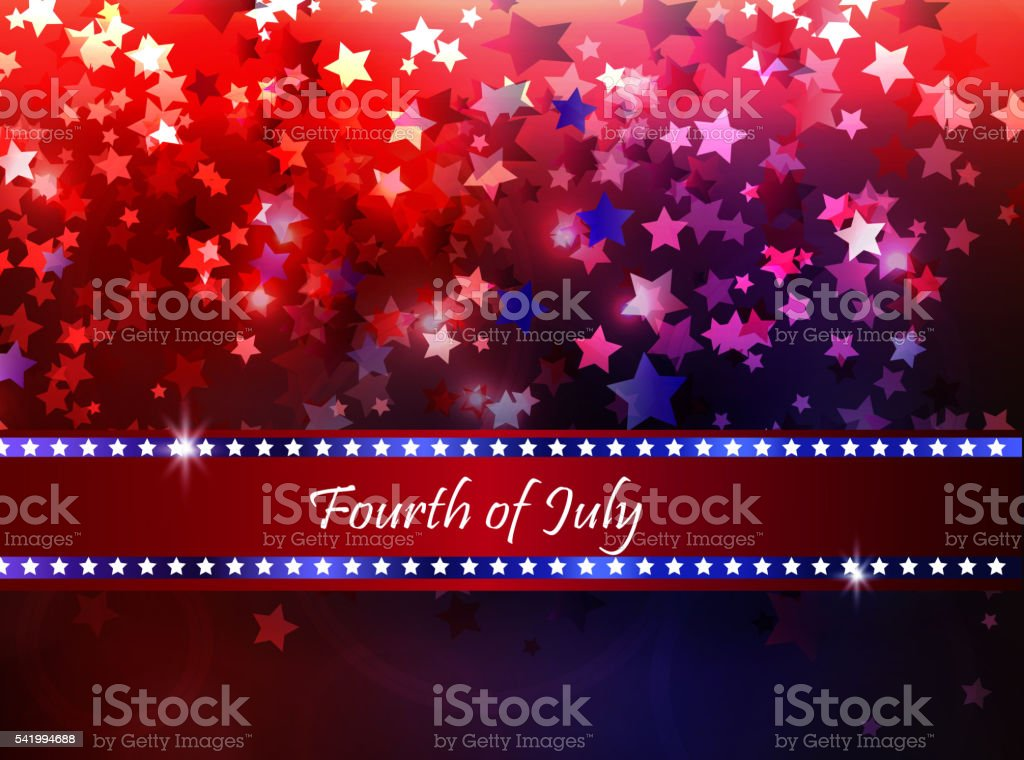 illustration of abstract for Independence Day vector art illustration