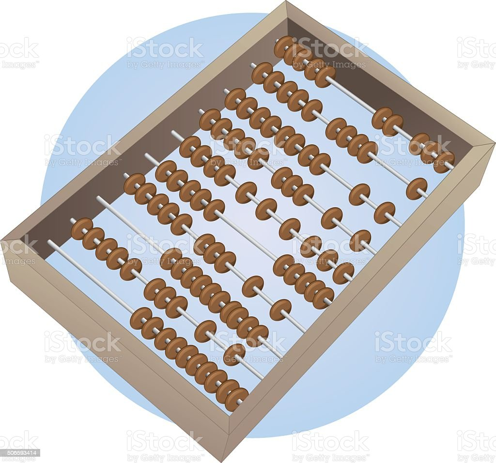 Illustration of an abacus for calculations vector art illustration