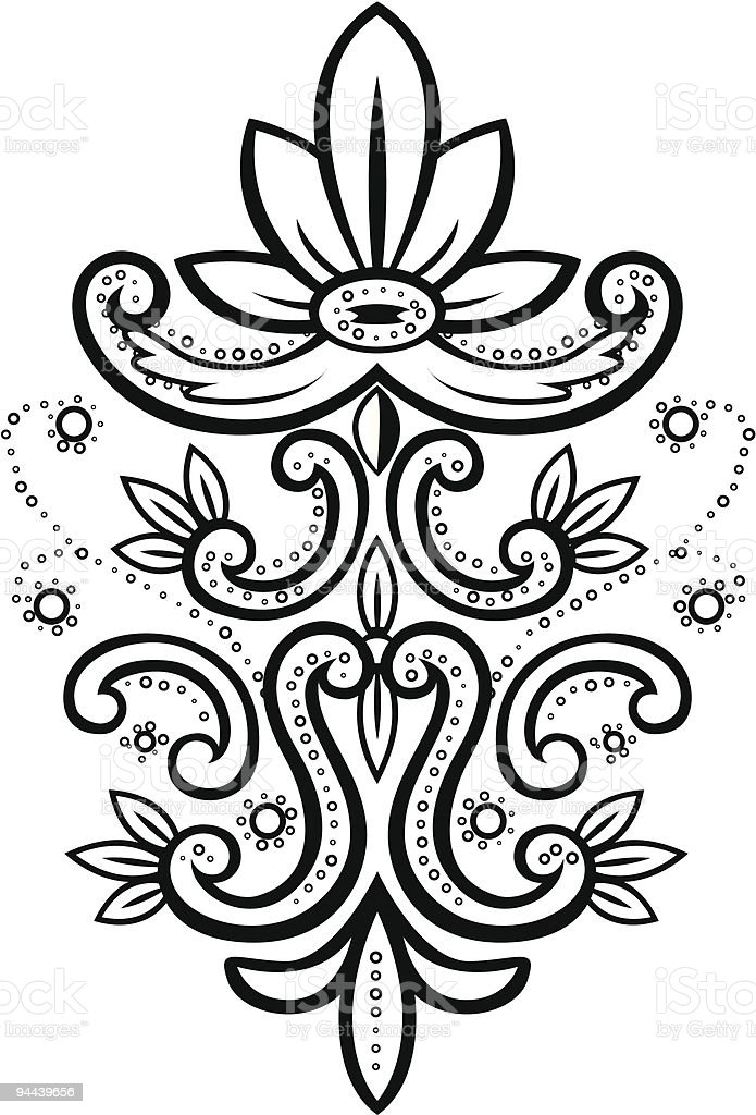 Illustration of an abstract floral element royalty-free stock vector art