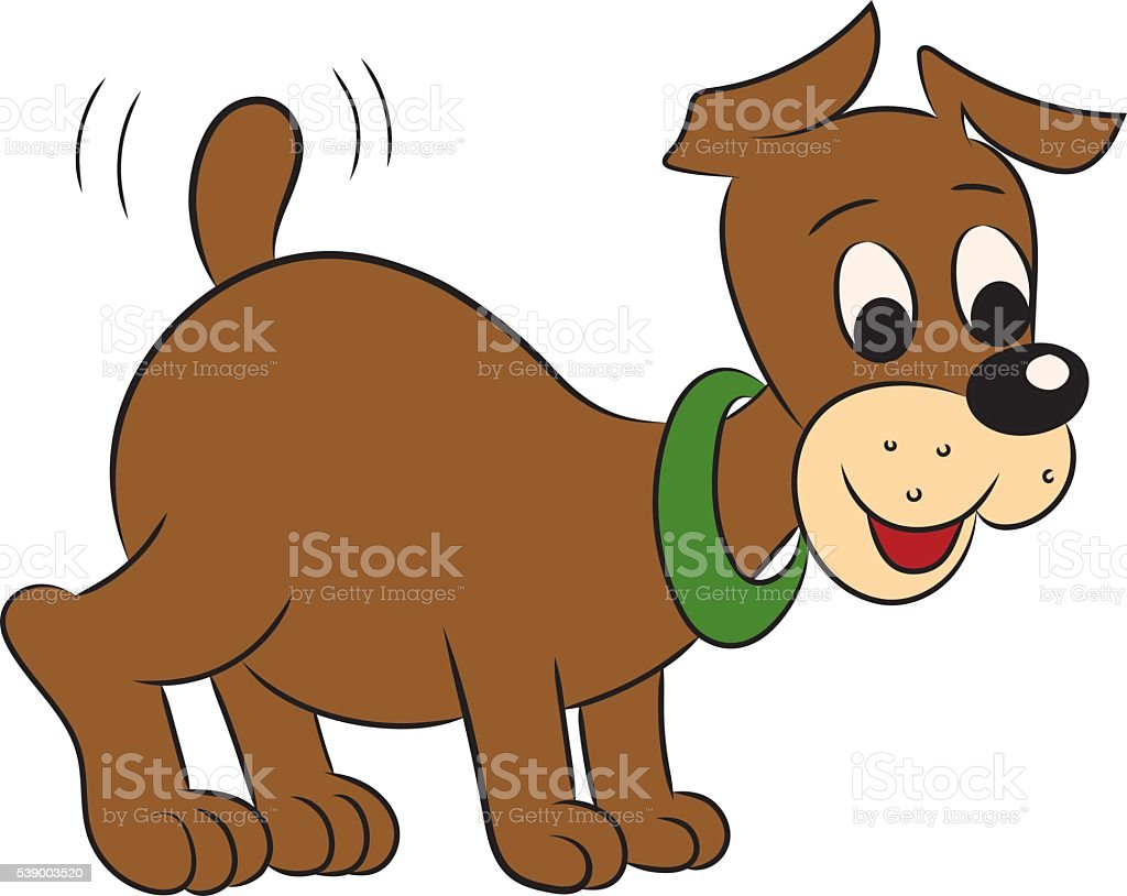 Illustration of an amusing puppy for the children's book vector art illustration