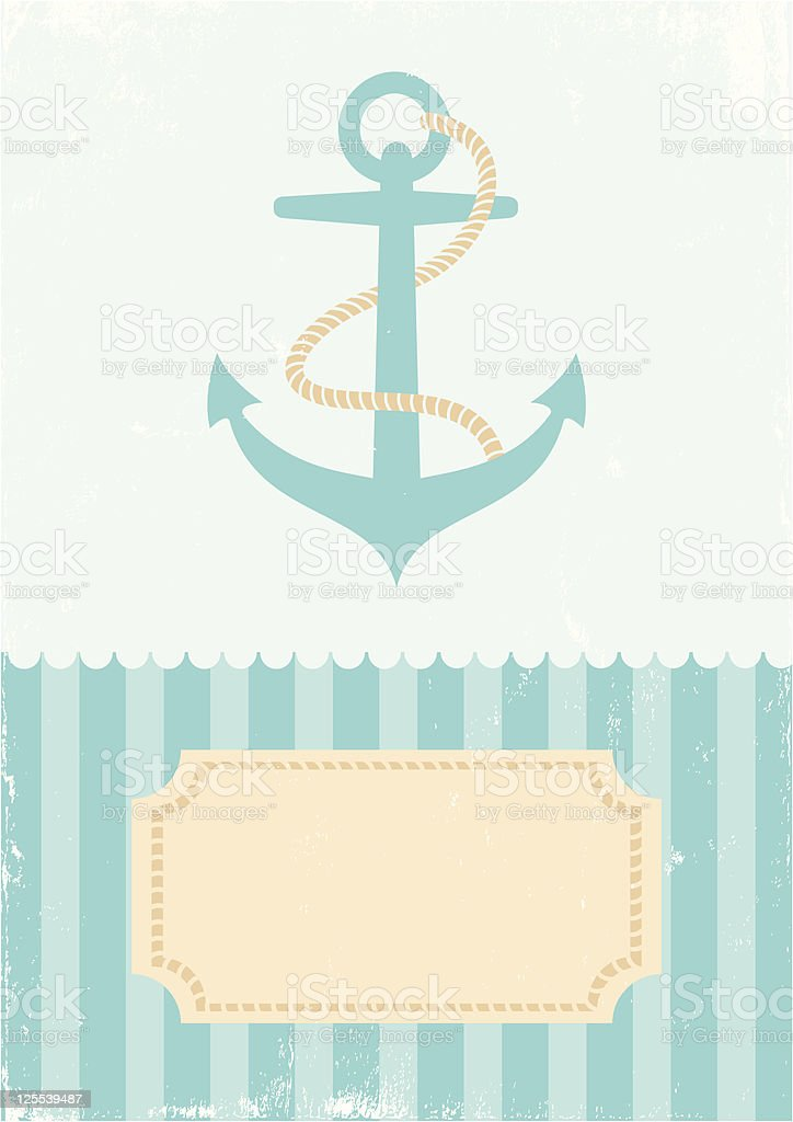 Illustration of an anchor royalty-free stock vector art
