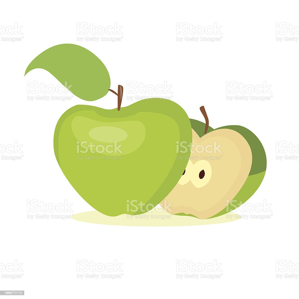 illustration of apple fruit royalty-free stock vector art