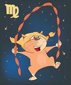 Illustration of Astrological Zodiac Signs Virgo Cartoon