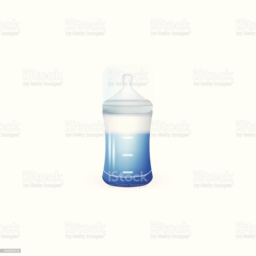 Illustration of baby feeding bottle vector art illustration