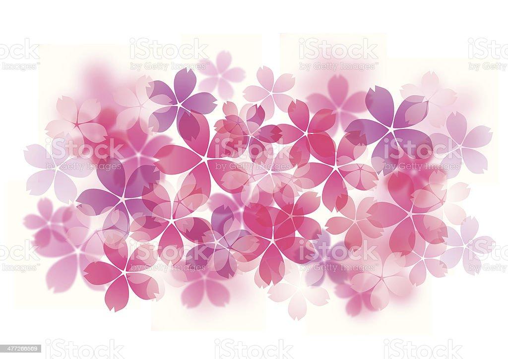 Illustration of beautiful cherry tree vector art illustration