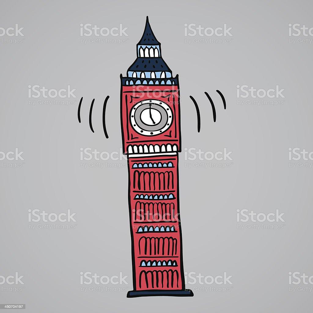 Illustration of Big Ben London royalty-free stock vector art