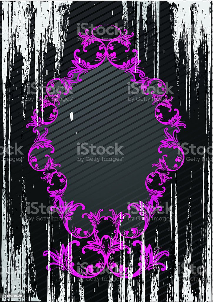 Illustration of black grunge frame royalty-free stock vector art