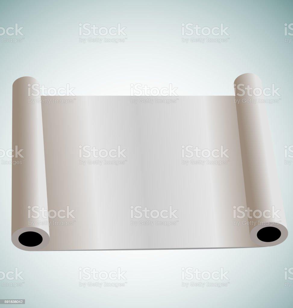 Illustration of blank paper roll for design vector art illustration