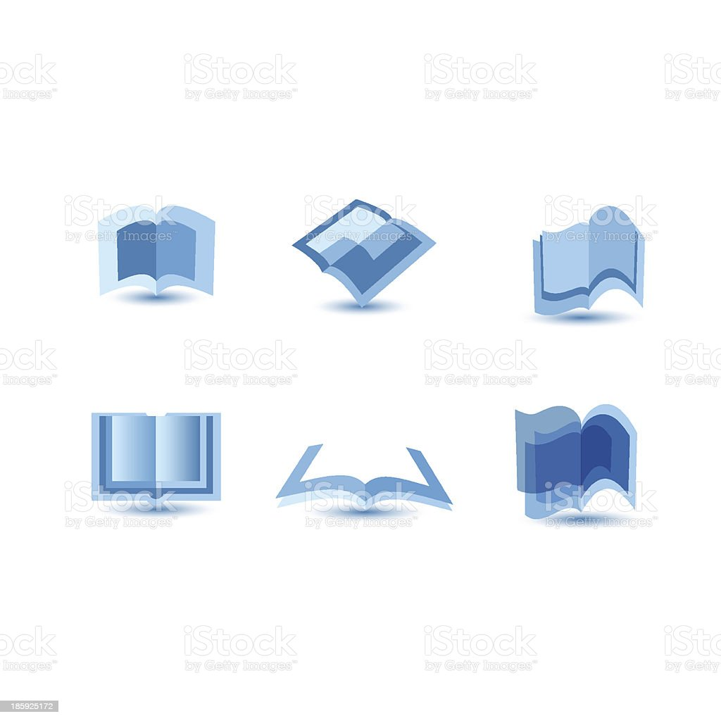 illustration of blue book icons royalty-free stock vector art