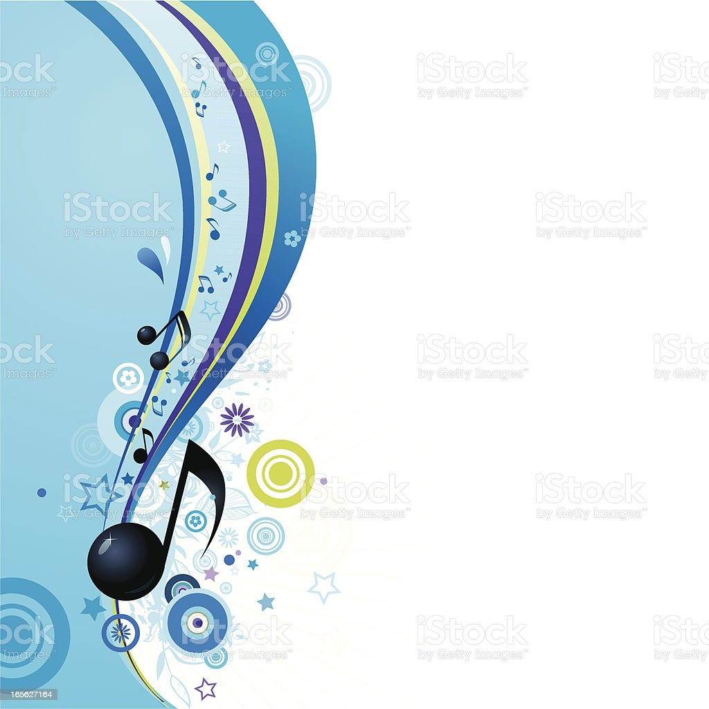 Illustration of blue music wave on white background  royalty-free stock vector art