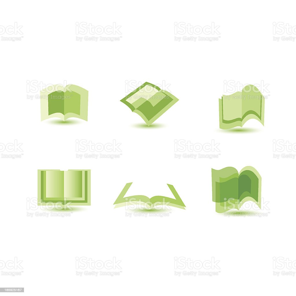 illustration of book icons royalty-free stock vector art