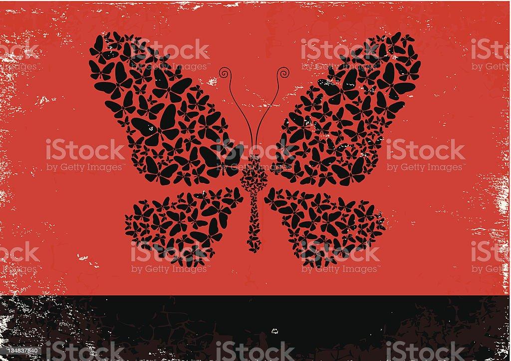 Illustration of butterflies royalty-free stock vector art