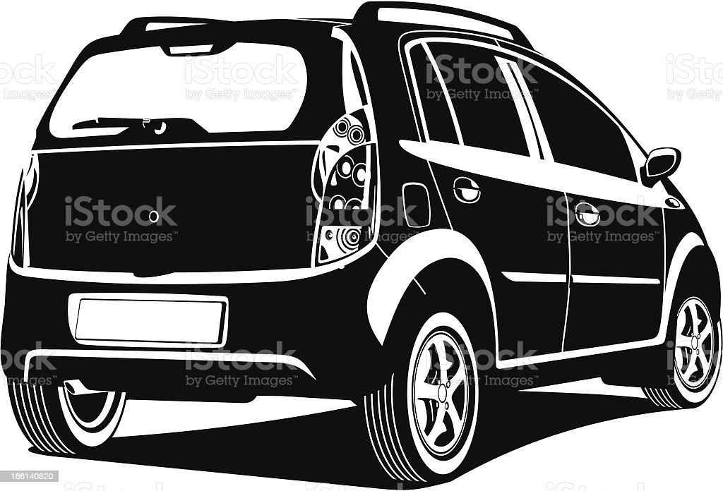 illustration of car royalty-free stock vector art