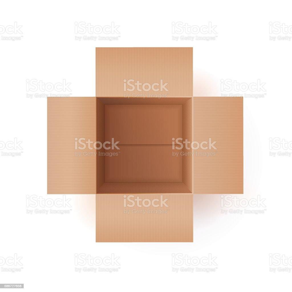 Illustration Of Cardboard Box vector art illustration