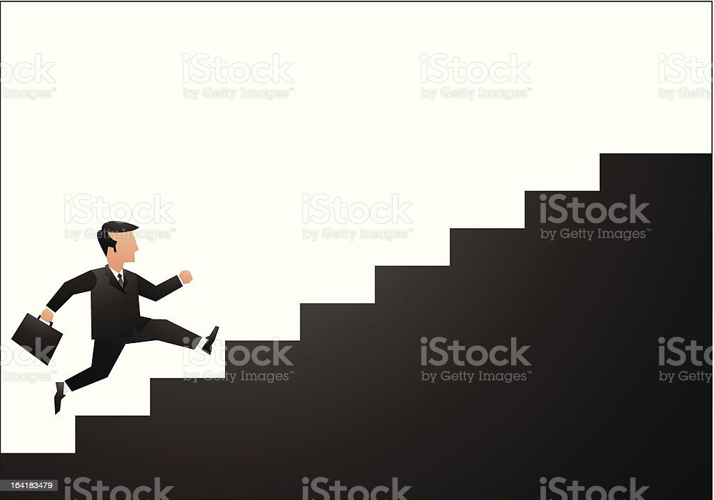 Illustration of career development and success vector art illustration