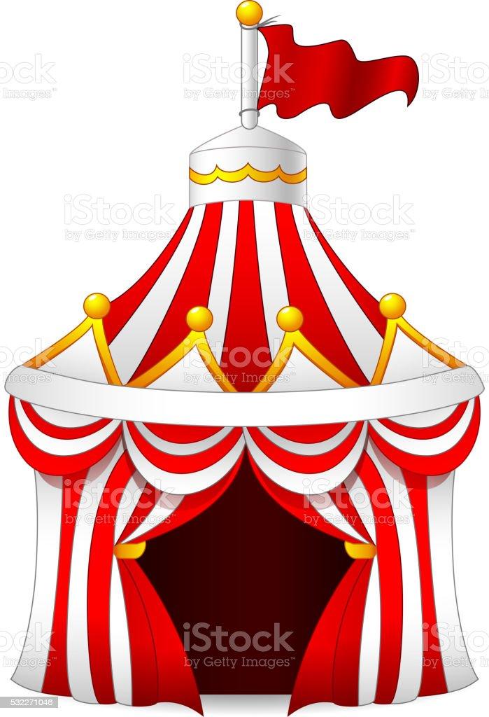 illustration of circus tent vector art illustration