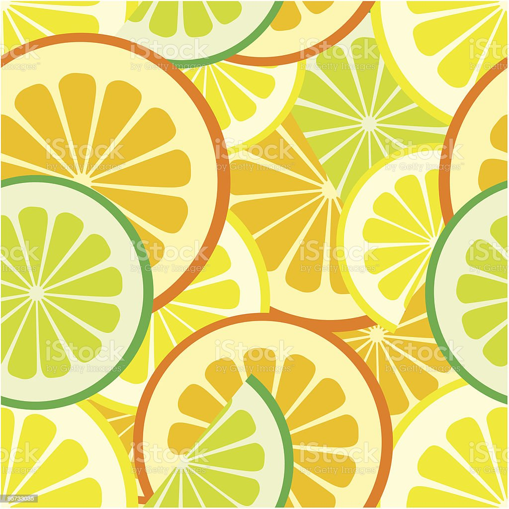 Illustration of citrus seamless pattern background royalty-free stock vector art
