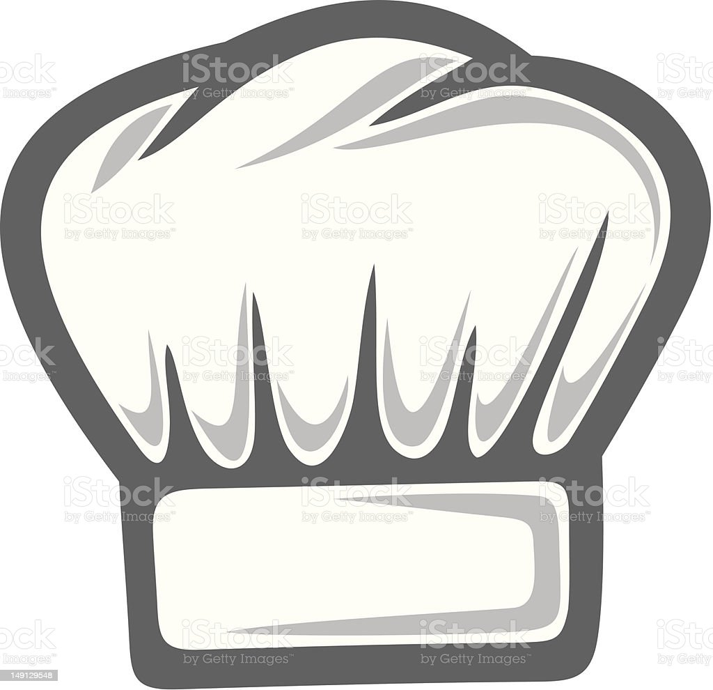 Illustration of classic white chef hat royalty-free stock vector art